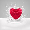 Raspberry Herz mit Milch