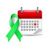 Grüne Bewusstseinsband und Kalender