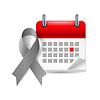 Grau Bewusstseinsband und Kalender