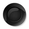 Runde schwarze Platte