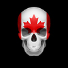 Kanadische Flagge Schädel