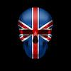 Britische Flagge Schädel