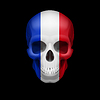 Französisch-Flag Schädel
