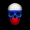 Russische Flagge Schädel