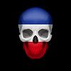 Jugoslawische Flagge Schädel