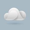 Abstrakt weißen Wolke