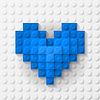 Blaue Herzen Baukasten