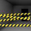 Dunklen Raum mit Gefahr Band