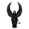 Engel des Todes mit zwei Flügeln