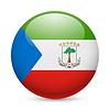Runde glänzend Symbol von Äquatorialguinea