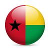Runde glänzend Symbol von Guinea-Bissau