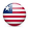Runde glänzend Symbol von Liberia