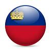 Runde glänzend Symbol von Liechtenstein