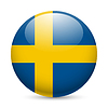 Runde glänzend Symbol von Schweden