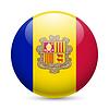 Runde glänzend Symbol von Andorra