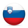Runde glänzend Symbol Slowenien