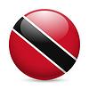 Runde glänzend Symbol von Trinidad und Tobago