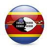 Runde glänzend Symbol von Swasiland