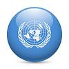 Runde glänzend Symbol der Vereinten Nationen
