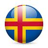 Rund glänzend Symbol Aland-Inseln
