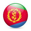 Runde glänzend Symbol von Eritrea