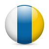 Runde glänzend Symbol der Kanarischen Inseln