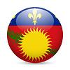 Abzeichen in den Farben der Flagge Guadeloupe