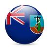 ID 4336768 | Abzeichen in den Farben der Flagge Montserrat | Stock Vektorgrafik | CLIPARTO