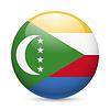 Abzeichen in den Farben der Flagge Komoren