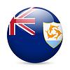 Abzeichen in den Farben der Flagge Anguilla