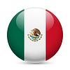 Runde glänzend Symbol der Vereinigten Mexikanischen Staaten