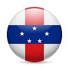 Runde glänzend Symbol der Niederländischen Antillen