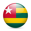 Runde glänzend Symbol von Togo