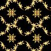 Goldene Blumenmuster auf schwarzem