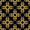 Asian goldene Muster auf schwarz
