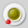 Romantische Tee trinken