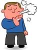 Karikatur-Mann Rauchen Zigarette