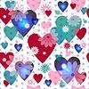 Seamless valentine Muster