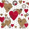 Nahtlose Valentine gemusterte Textur