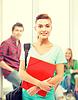 ID 4467958 | Student Mädchen mit Ordner und Schultasche | Foto mit hoher Auflösung | CLIPARTO