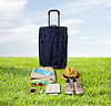 Torba podróżna i osobiste rzeczy na wakacje | Stock Foto