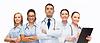 组医务人员用听诊器 | 免版税照片