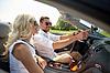 Glückliches Paar GPS-Navigationssystem mit im Auto | Stock Photo