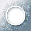 Winter-Hintergrund mit Schneeflocken abstrakt