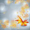 가을 잎 가을, 자연 배경 | Stock Vector Graphics