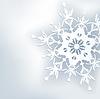 Stilvolle abstrakte Hintergrund, 3D-kunstvollen Schneeflocke