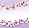 꽃 펜던트와 세련 된 꽃 배경, 인사말 카드 | Stock Vector Graphics