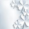 St. Patrick `s Day-Karte grau mit Kleeblatt