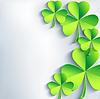Stilvolle St. Patrick `s Day-Karte mit Kleeblatt