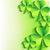 Abstrakt St. Patrick `s Day-Karte mit Kleeblatt
